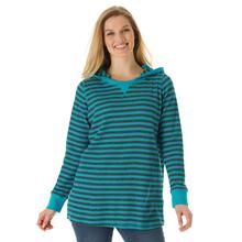 L-10XL Plus Size Women Stripe Thermal Knit Hoodie Sweatshirt Tunic Large Size Clothing Oversize 4XL 5XL 6XL XXXXL Spring Autumn(China (Mainland))