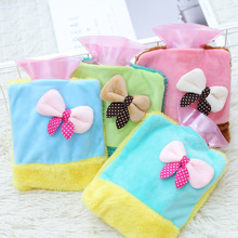 Portable Water Injection Hot Water Bags Cartoon Warm Handbag Child Hand Po Warm Feet Flannel Water Bag Home Warming Products(China (Mainland))