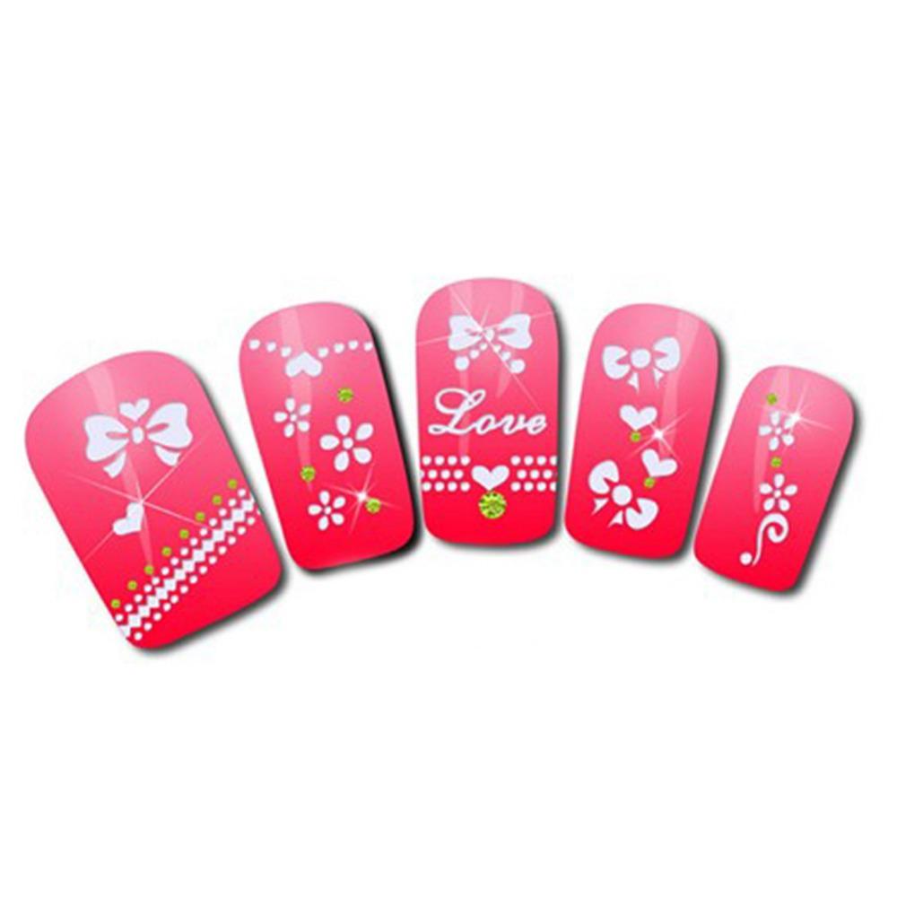 1 Sheet XFXF 3D gilded nail stickers affixed nail polish does not fade nail supplies wholesale(China (Mainland))
