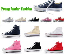Fashion Low or high Style Classic Canvas Shoes Men's/Women's With BOX Canvas Shoes  All Size Free Shipping(China (Mainland))