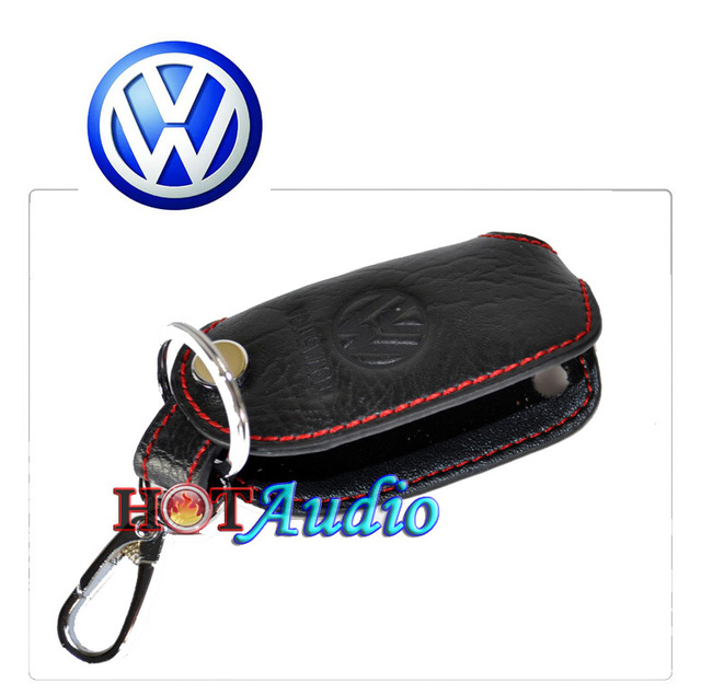 Top Quality For VW Volkswagen Auto Key Case Bag Keychain Car Logo Holder Key Ring Gifts Genuine Leather Free Ship Via HK post