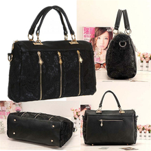 2015 Brand Design Fashion Messenger Bag Tote Shoulder Bag Vintage Women PU Leather Lace Popular Handbag