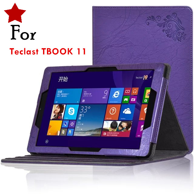 Teclast TBOOK11 10.6inch Tablet Cases Floral Print PU Leather Case Cover for Teclast TBOOK 11 + Gift