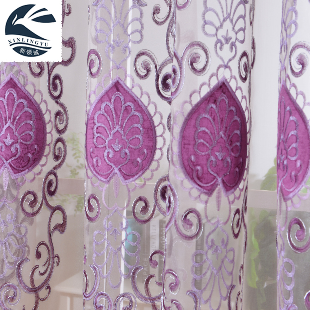 The Curtain Contracted Europe Type Ventilation Window Screening Embroidery Stitching Finished Wire Netting Bedroom, Living Room(China (Mainland))