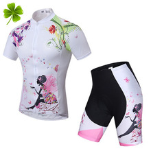2016 Summer Women Cycling MTB Short Sleeves Jersey Bike Bicycle Sets Shirts Padded Wear Uniforms - Sports life No.1 Store store