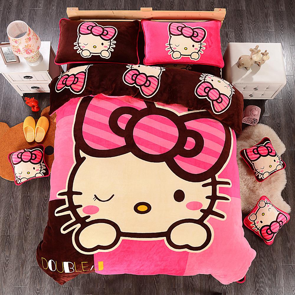 Pink hello kitty bedsheet - Hello Kitty Bedding Set Children Cotton Bed Sheets Hello Kitty Duvet Wallpaper Gallery Hello Kitty