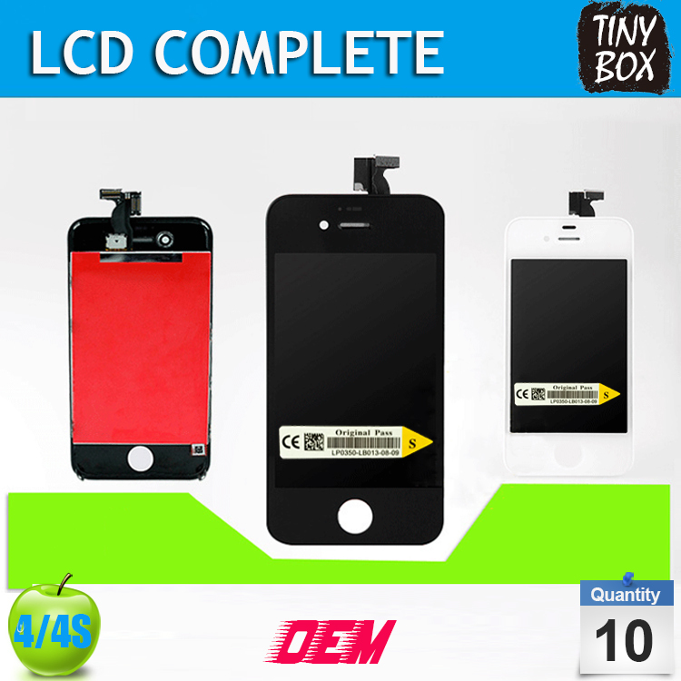 DHL Free, Brand New Quality B Replacement For iPhone 4 Screen LCD+Touch Screen Digitizer+Frame For iPhone 4S Screen,10pcs/lot