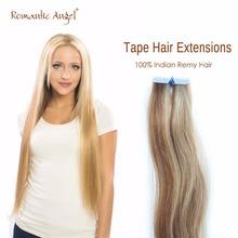 волосы для ленточного наращивания 100%  человеческие волосы Remy с плотными концами   1 шт. 2.5 г 18 дюймов 40 см