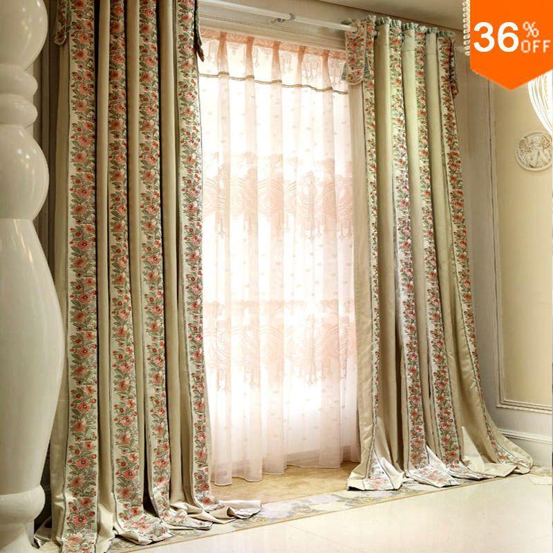 2016 arbustos florecientes cortinas para sala de polvo for Cortinas modernas 2016
