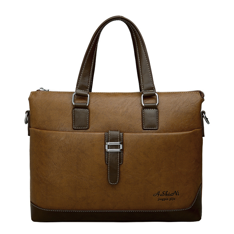 Brand business casual briefcase male genuine leather handbag the messenger shoulder bag men's office  bag bg0239