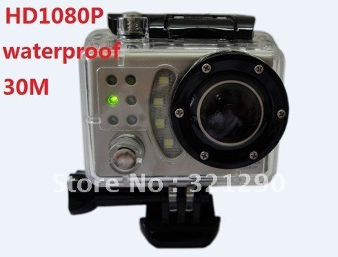 2012 new products on the market, fashion boutique, Full HD 1080 p Waterproof Car Bike Sports Helmet Action Dash Camera Cam DVR