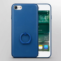 7Plus Plastic Case Ring Holder Celular For iPhone 7 7 Plus Frosted Matte Case For iPhone7 Cover Stand Holder Phone Bags Cases