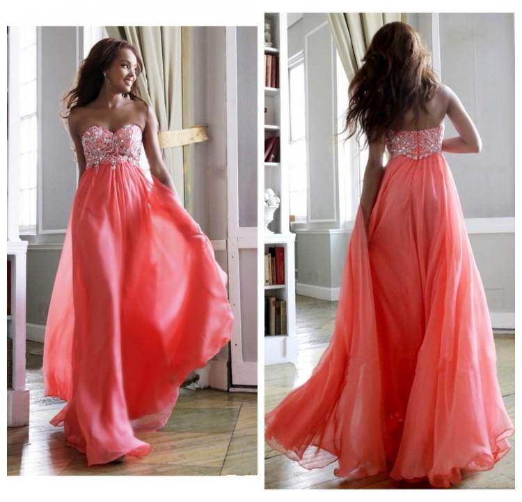 Cheap Vestidos Dress Royal Blue Chiffon Long Prom Dresses 2014 Sweetheart Beading Line Floor Length Evening Gowns Open Back - Mona Lisa wedding dress store