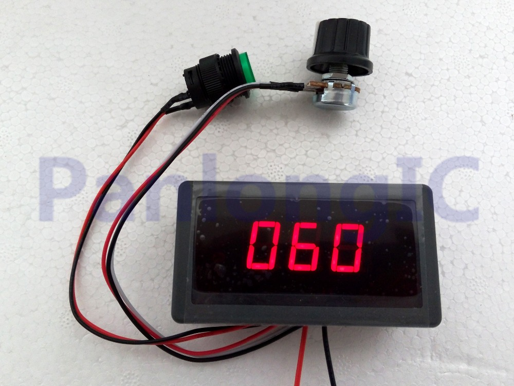 Digital Display Led 6v 12v 24v 6a 8a Pwm Dc Motor Speed