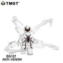 Big size Super Heroes Hulk Buster Iron Man Venom Riot Batman Endgame heroes Building Blocks Collection Toys for children gifts(China)
