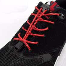 Locking Shoe Laces Elastic Shoelaces Shoestrings Running Jogging Triathlon Sports Fitness Laces Shoelaces Multi-Colors(China (Mainland))