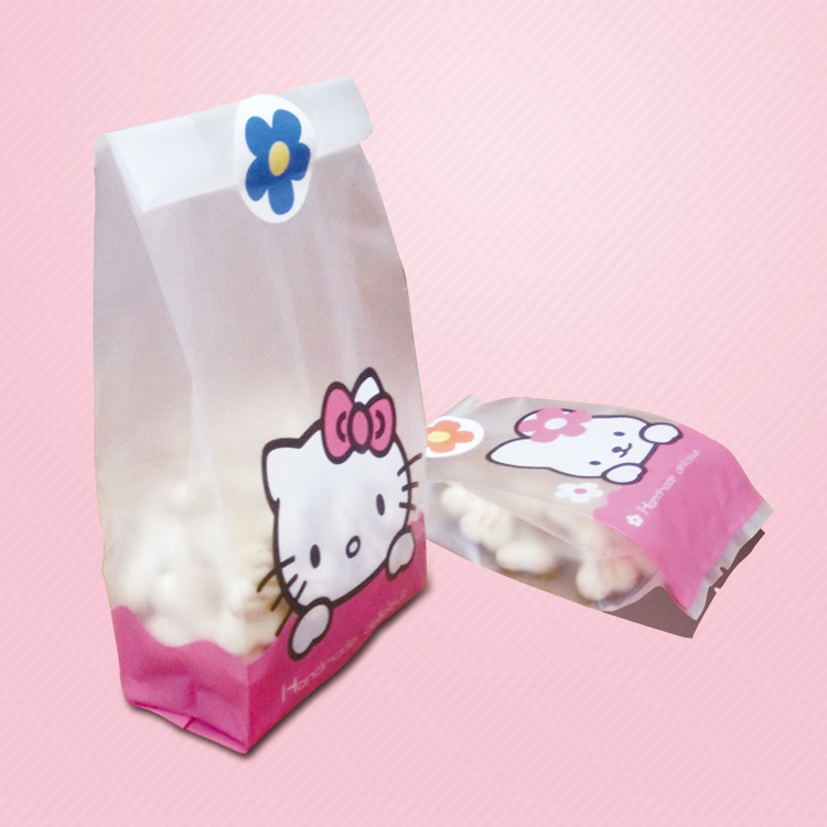 50pcs/lot Cute Hello Cat Rabbit Cookie Bread bag Gift Candy Package Cellphone Bags Jewelry bags Send children baking gift(China (Mainland))