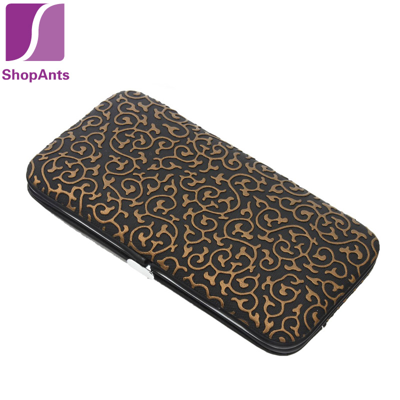 Stone Pattern Case+12 1 Nail Clipper Kit Care Set Pedicure Scissor Tweezer Knife Ear pick Utility Manicure Tools - ShopAnts store