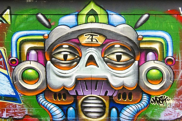 art color Graffiti paint psychedelic Urban wall rue tag peinture Home Decoration Canvas Poster(China (Mainland))