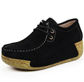 2015 height increased plush leather large base women s genuine leather shoes leisure shoes women increased
