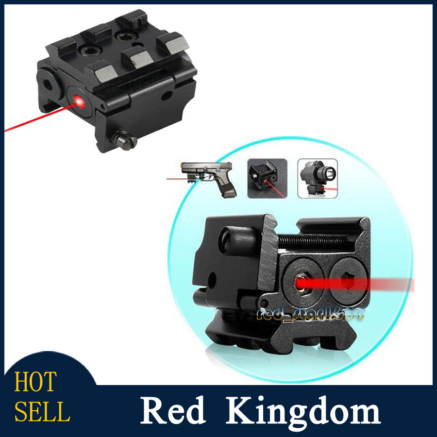 Free Shipping Mini Adjustable Compact Red Dot Laser Sight Scope Picatinny Weaver 20mm Rail Mount For Pistol Handgun(China (Mainland))