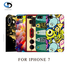 Unique Lovely Painting Design Patterns Art Printed White Hard Case For Iphone 7 Mobile Phone Cases Skin Hood Housing