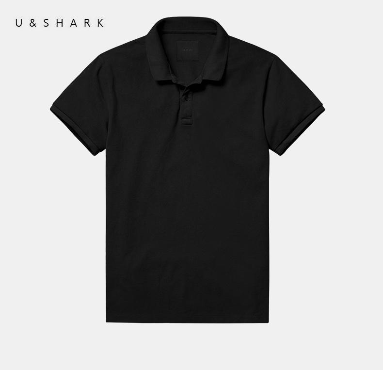 2016 U&Shark Black Short Sleeve Golf Polo Shirt Men Brand Clothing Regular England Style 100% Cotton Quick Dry Sport Polo Male(China (Mainland))