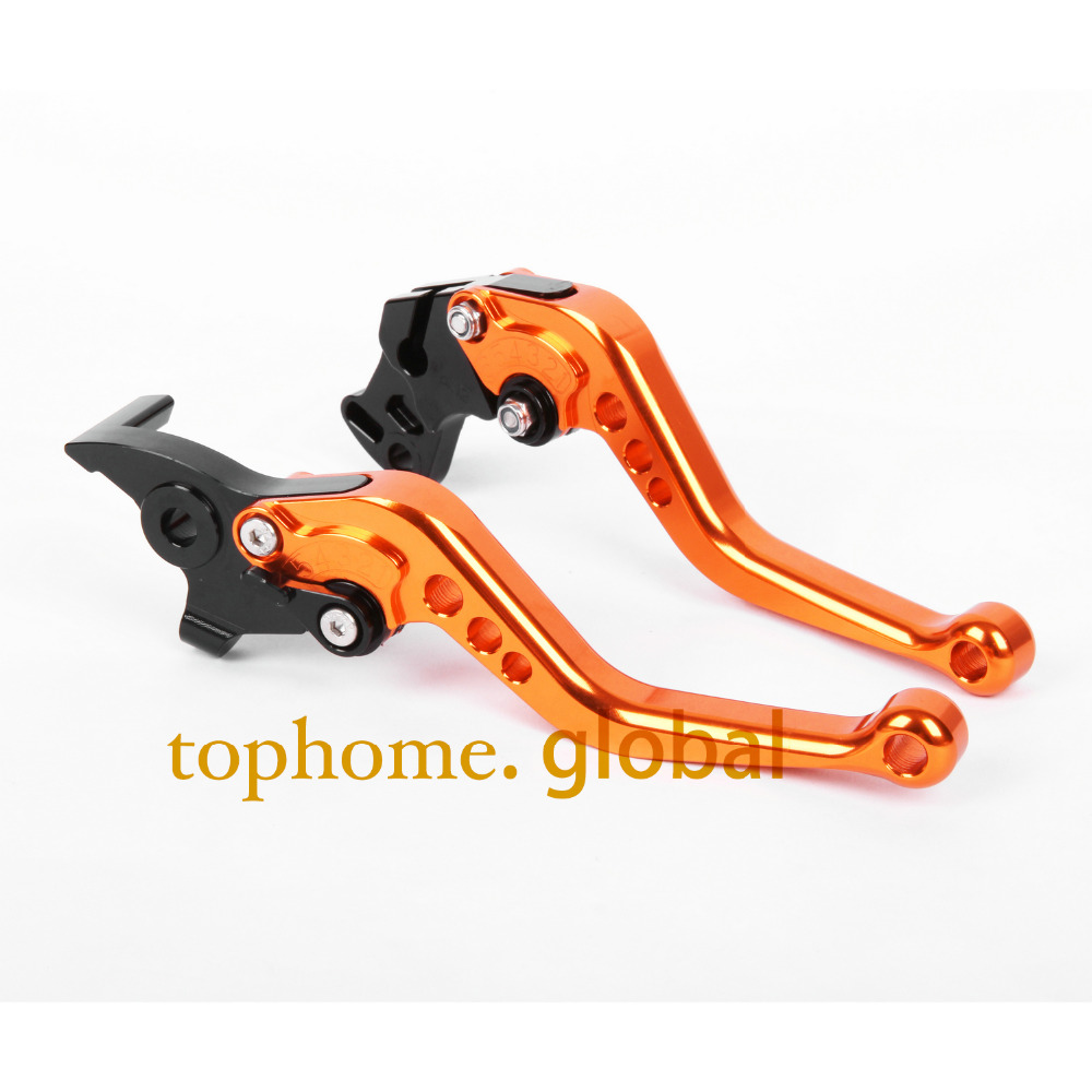 Short Size Motorcycle CNC Clutch Brake Levers KTM 640 LC4 Supermoto 2003-2006 Orange&Black Handlebar - TopHome store