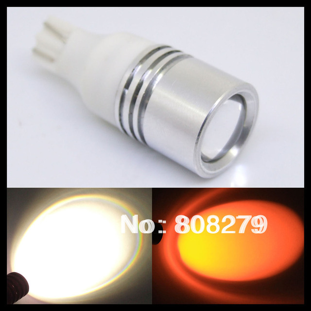 2pcs / lot T10 T15 W16W Q5 High Power Led Car Backup Reverse Parking Light Bulbs white/amber