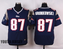 New England Tom Brady Julian Edelman Rob Gronkowski for youth kids stitched(China (Mainland))