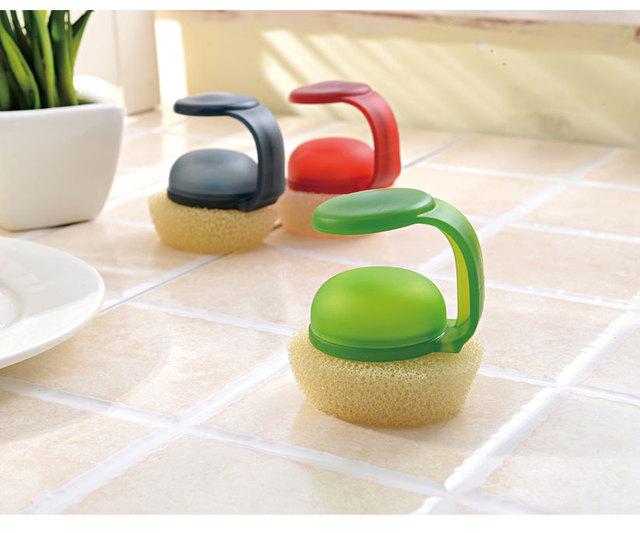 1pcplastic handheld sponge kitchen cleaning bathtub ceramic tile glass