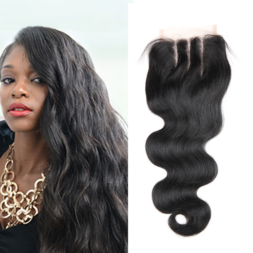 7A Malaysian Body Wave Closure 100% Silk Lace Closure Bleached Knots 4*4 Middle Free 3 Part Closures Free Style 10-20 In Stock<br><br>Aliexpress
