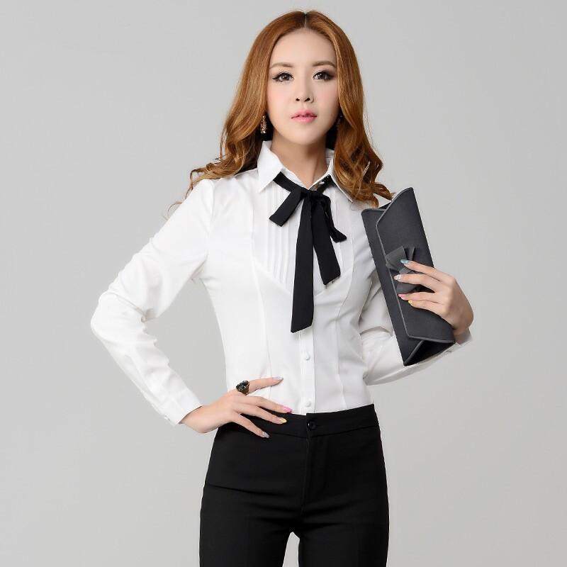 Turmec Long Sleeves Dressy Shirt Blouses