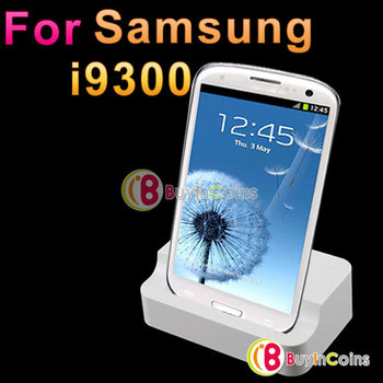 Desktop Dock Sync Cradle Battery Charger Holder for Samsung for Galaxy S3 SIII i9300 [21832|01|01]