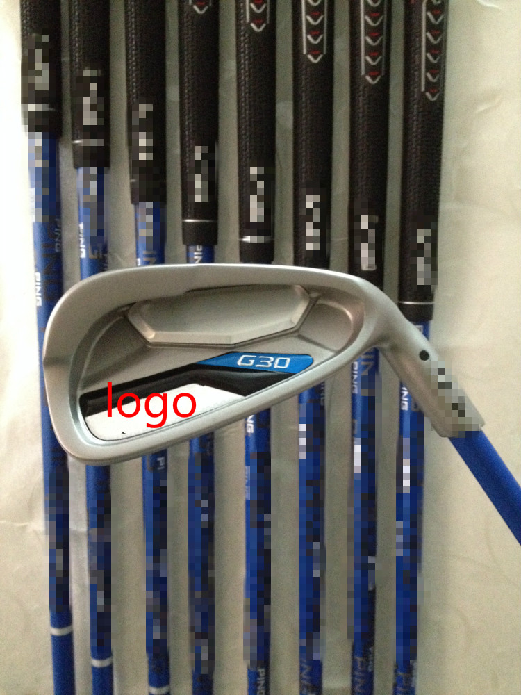 2016 New Brand G30 Iron Sets G30 Golf Irons G30 Golf Clubs 4-9SUW Regular/Stiff Flex Graphite and steel Shaft With Headcover(China (Mainland))