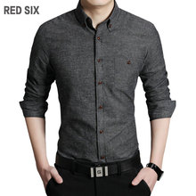 New Spring Autumn solid color cotton men shirt slim fit chemise homme long sleeve business casual shirt men F838(China (Mainland))