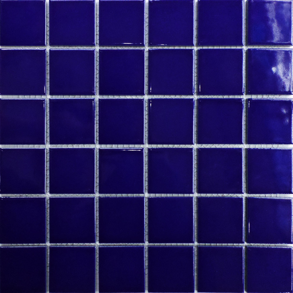 Ceramic 2x2 mosaics tile blue swimming pool bathroom for Swimming pool wall tiles