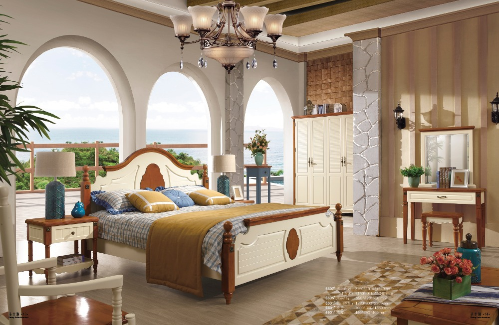 2015 hot sale mediterranean style wooden bedroom furniture for Mediterranean style bedroom furniture
