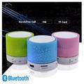 100PCS Free DHL Wireless Mini Portable LED Bluetooth Speakers Handsfree Speaker FM Radio TF Card HIFI