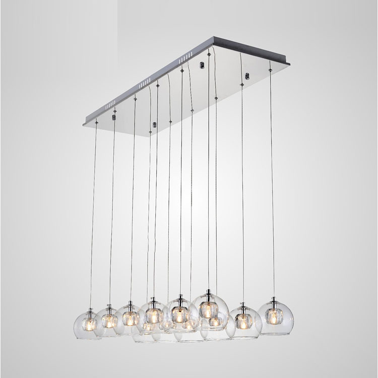 Dining Room Hanging Light Fixtures Modern Dining Room Crystsal Glass Shade Pendant Light Two Tiers