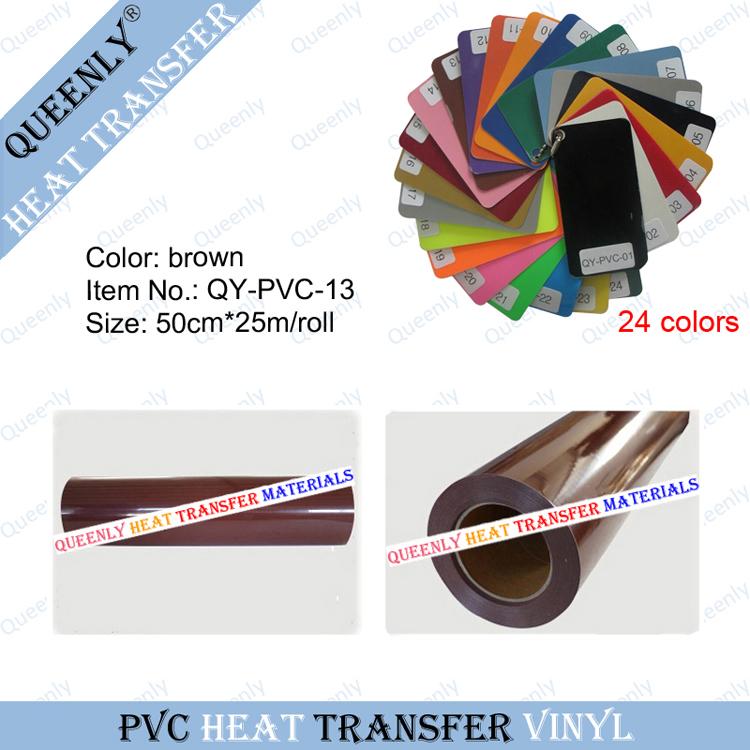 PVC heat press vinyl for T-shirt DIY cutting PVC heat transfer vinyl 50cm*25m/roll(China (Mainland))