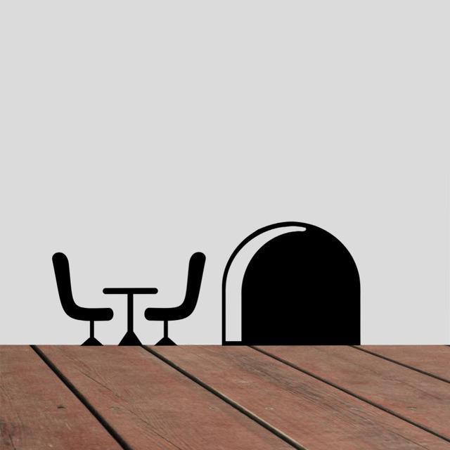 Мышь отверстия 3d наклейки для детей номеров отличительные знаки котировки виниловые уолл-переводные украшения искусства 359 главная старинные росписи обоев плакат