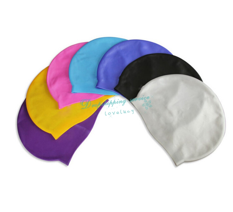 Outdoor Sports Silicone Swimming Caps Protect Ears Long Hair Swim Pool Waterproof Hats Male Female Adult - ET2-9 store