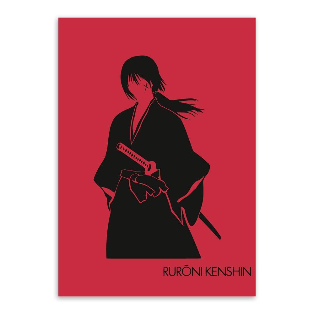 Poster Rurouni Kenshin Japan Anime Boy Room Club Wall Cloth Print 06