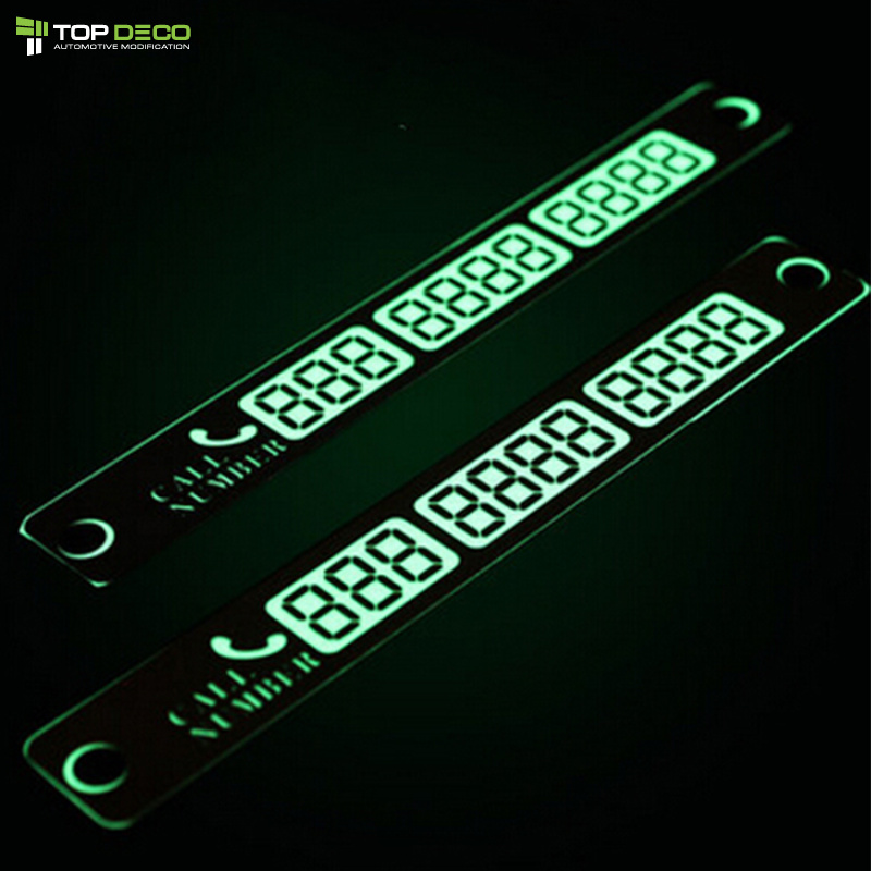 Temporary Parking Card Luminous Phone Number Card Plate For Mitsubishi ASX Lancer Outlander Lada Honda Civic Fit HRV Accessories(China (Mainland))