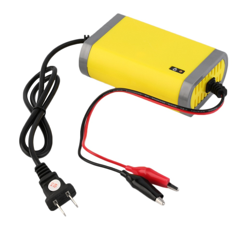 New US Plug Car Battery Charger 12v 2A Fully-automatic Car motorcycle battery charger Adaptor Power Supply Wholesale(China (Mainland))