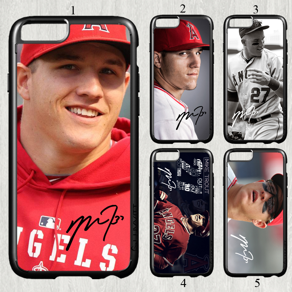 Mike Trout fashion baseball original cell phone Case cover for iphone 6 6S 4.7 inch #P1020