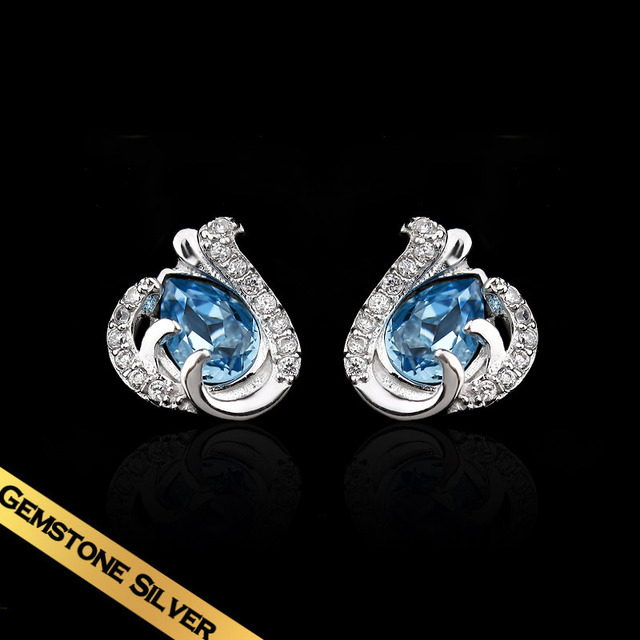 Special Stud Earrings 925 Silver Crystal Fashion Vintage Jewelry Free Shipping New Style EH13A095