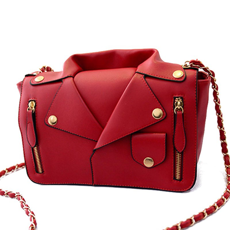 Designer Handbags High Quality Women PU Leather Jacket Bags Women Clothing Shoulder Messenger Bag Day Clutch Purse bags MU-1964(China (Mainland))