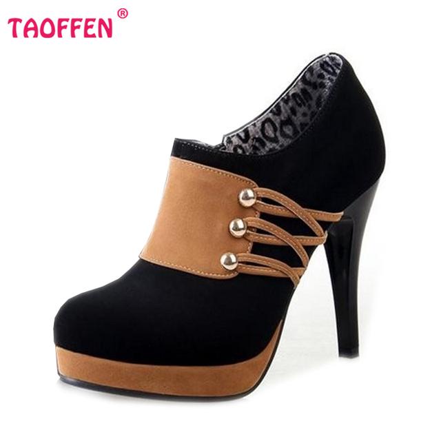 Женщины полусапожки на высоком каблуке короткие ботильоны мода осень зима загрузки ...